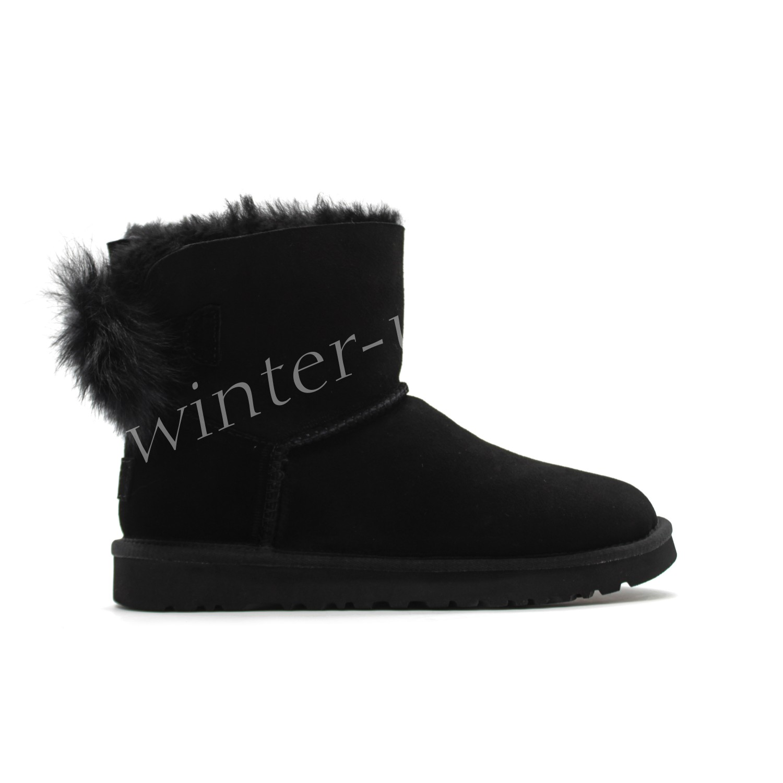 Угги Fluff Bow Mini - Black