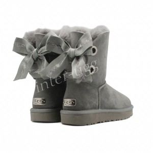 Угги Bailey Bow Customizable - Grey