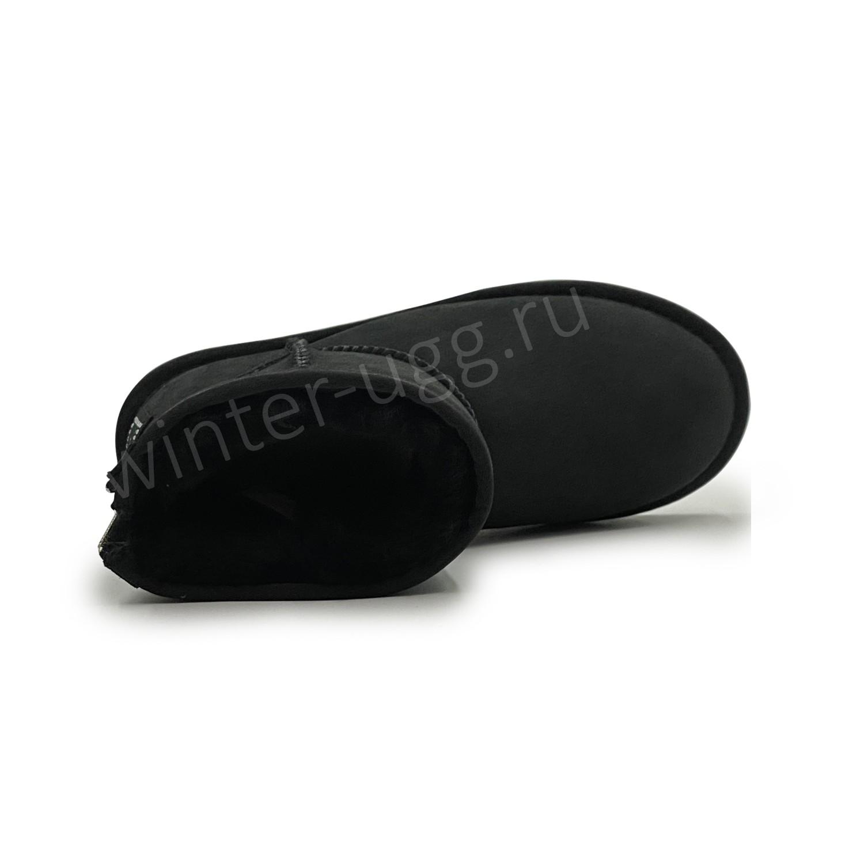 Угги  Мини с Молнией Zip - Black