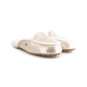 Меховые Тапочки Lane Slip On Metallic Loafer - Rose Gold