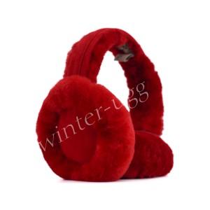 Меховые наушники Earmuff - Red
