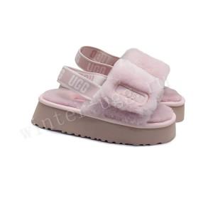 Женские Меховые Тапочки Disco Slide - Pink