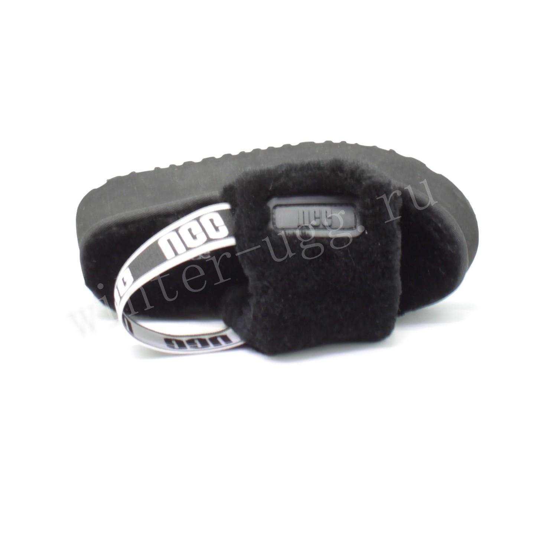 Женские Меховые Тапочки Disco Slide - Black