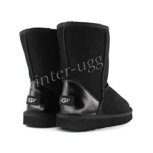 Угги Classic Short Metallic II - Black
