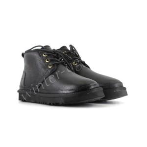 Женские Ботинки Кожаные Neumel - Black