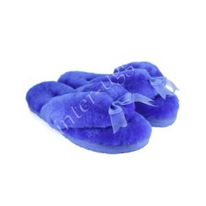 Меховые Вьетнамки Fluff flip flop - Blue