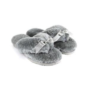 Меховые Вьетнамки Fluff flip flop - Grey