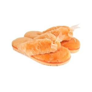 Меховые Вьетнамки Fluff flip flop - Orange