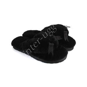 Меховые Вьетнамки Fluff flip flop - Black