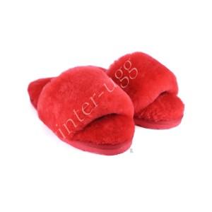 Меховые Тапочки FLUFF Slides - Red