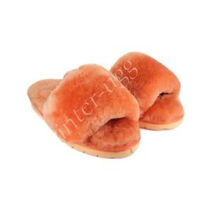 Меховые Тапочки FLUFF Slides - Orange