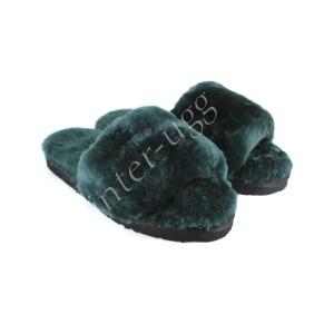 Меховые Тапочки FLUFF Slides - Emerald