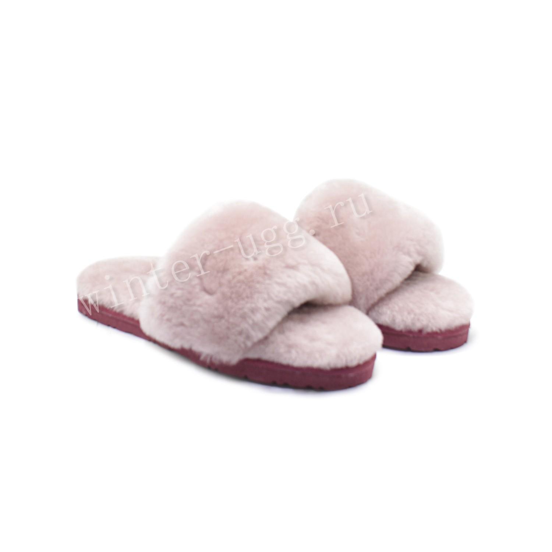 Меховые Тапочки FLUFF Slides - Pink
