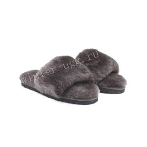 Меховые Тапочки FLUFF Slides - Chocolate