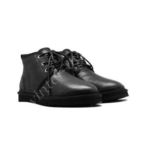 Мужские Кожаные  Ботинки Neumel - Black