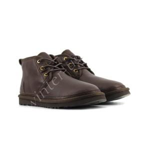 Мужские Кожаные  Ботинки Neumel - Chocolate