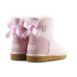 Угги Мини Bailey Bow II Metallic - Seashell Pink