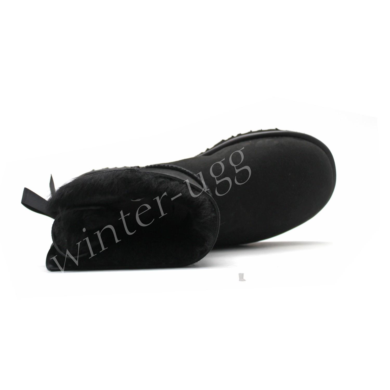 Угги Мини Bailey Bow II Metallic - Black