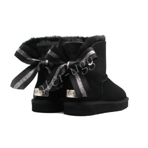 Угги Мини Bailey Bow Customizable - Black