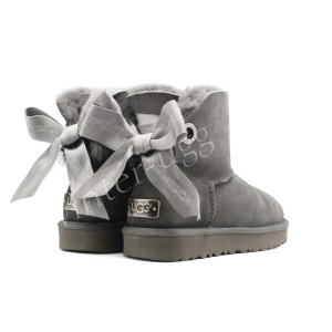 Угги Мини Bailey Bow Customizable - Grey