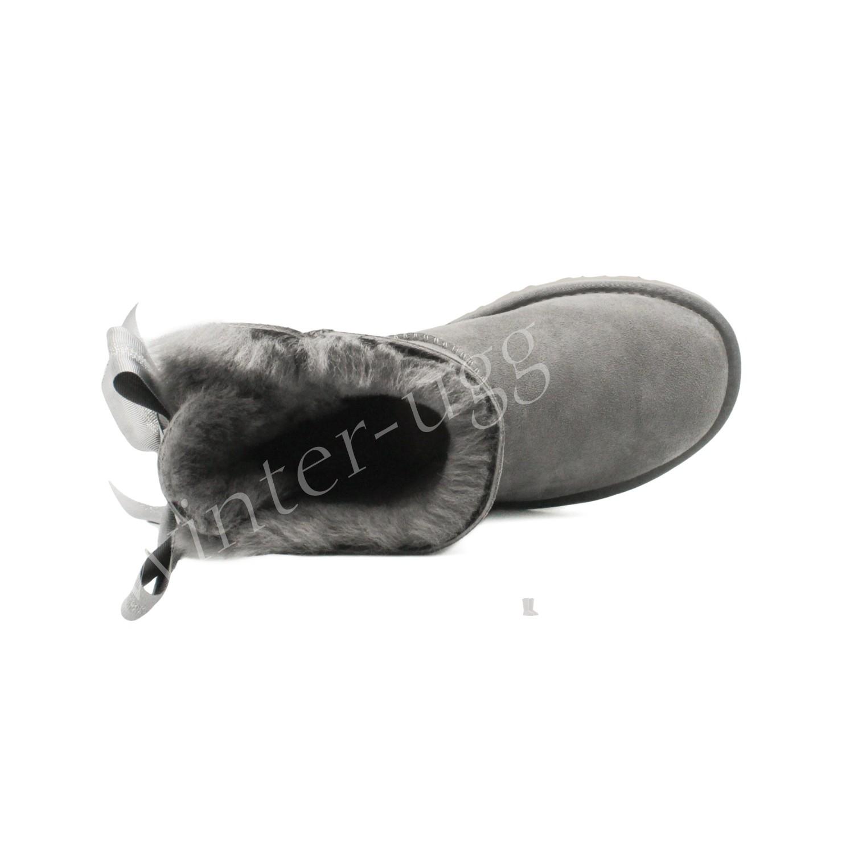 Угги Мини Bailey Bow Customizable - Grey
