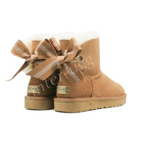 Угги Мини Bailey Bow Customizable - Chestnut
