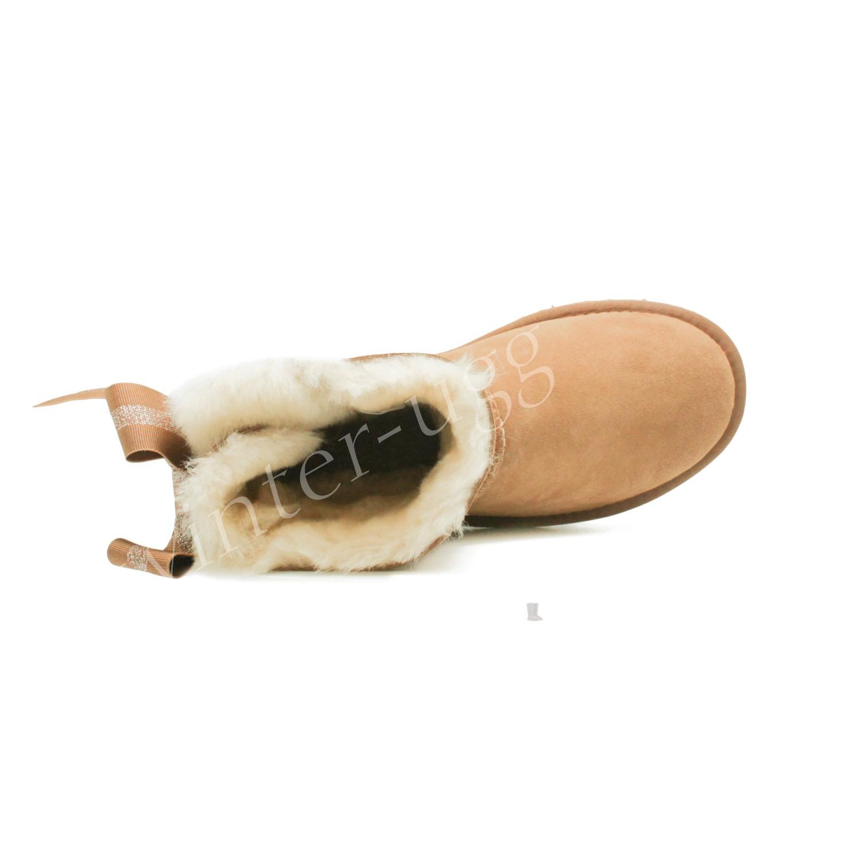 Угги Мини Bailey Bow Customizable - Chestnut