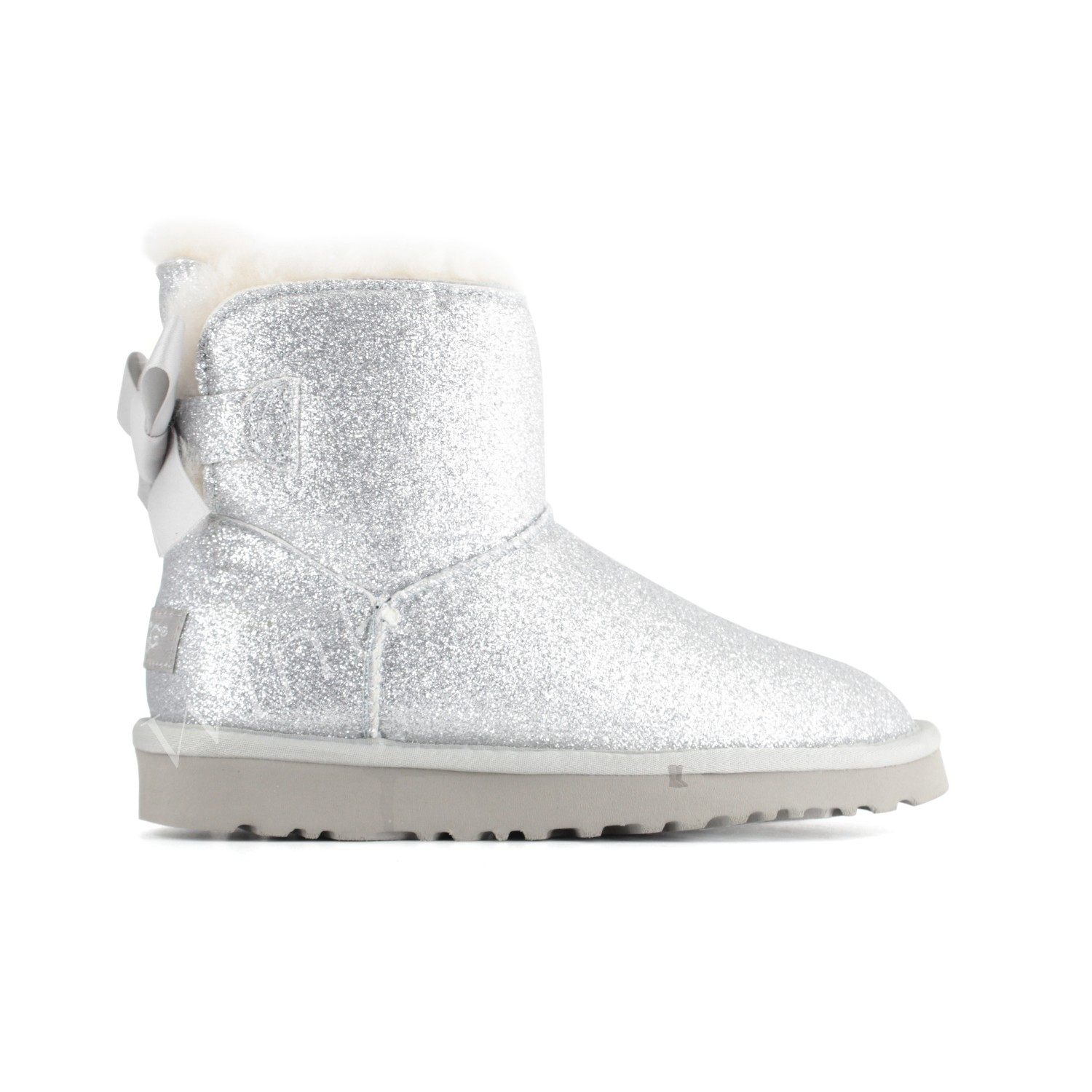 Угги Мини Bailey Bow Sparkle - Silver