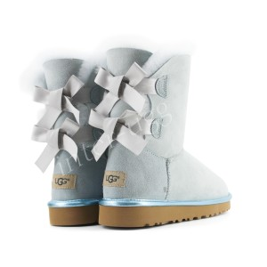 Угги с Лентами Bailey Bow II Metallic - Sky Blue