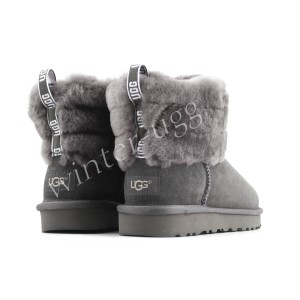 Угги Мини Fluff Quilted Boot - Grey