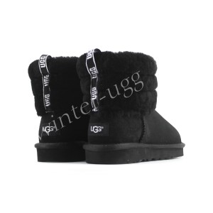Угги Мини Fluff Quilted Boot - Black