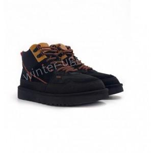 Женские кроссовки UGG на шнурках Sneakers Highland Hi Heritage - Black