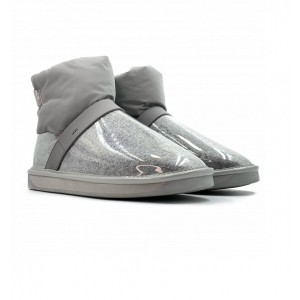 Clear Quilty Boots Mini - Grey