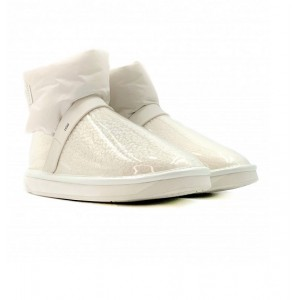 Clear Quilty Boots Mini - White