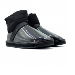 Clear Quilty Boots Mini - Black
