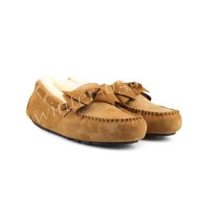 Женские Мокасины Dakota Leather Bow - Chestnut