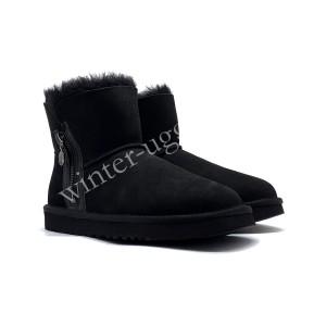 Угги Мини Zipper - Black