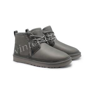 Мужские Кожаные Ботинки Neumel Zip - Grey