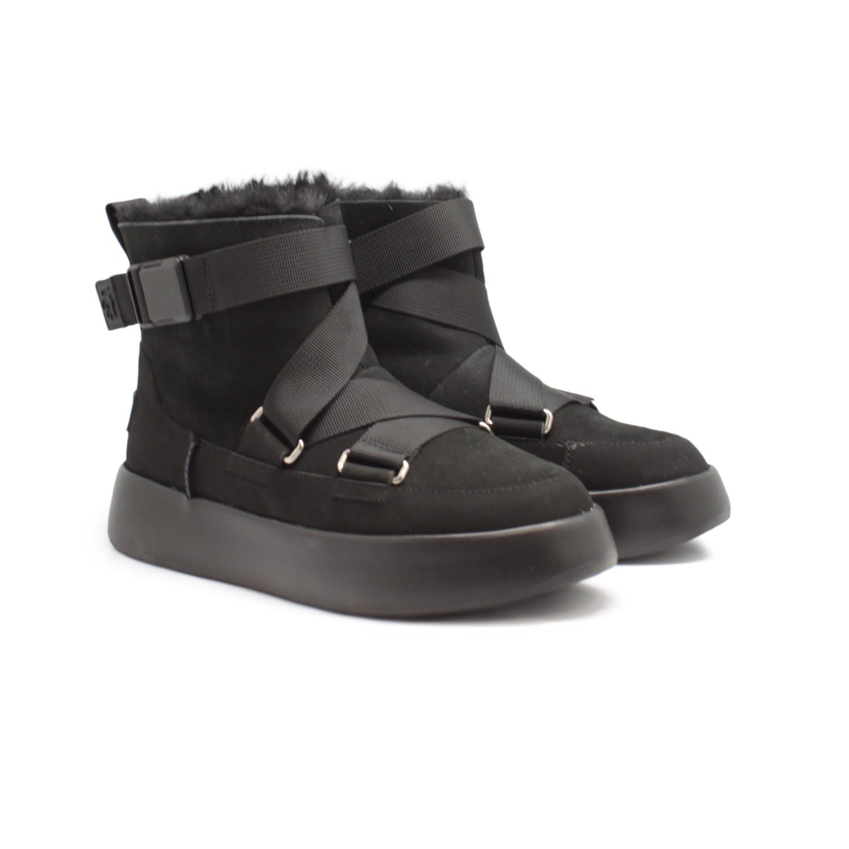 Женские UGG Boom Buckle Boots - Black