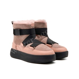 Женские UGG Boom Buckle Boots - Pink Crystal