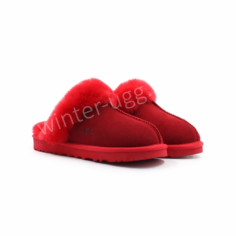 Меховые Домашние Тапочки Slipper - Red