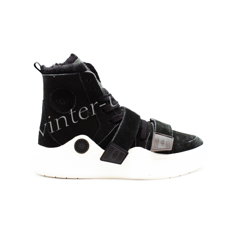 Женские кроссовки UGG на шнурках и липучках Sneakers Sioux Trainer - Black