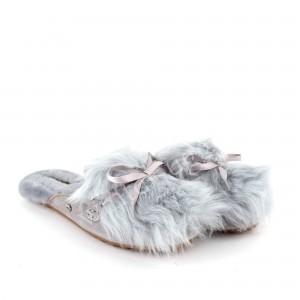 Меховые Тапочки Shaine Fluff - Grey